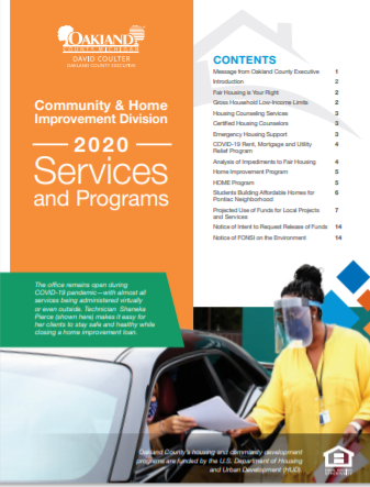 2020 Community and Home Improvement Annual Report