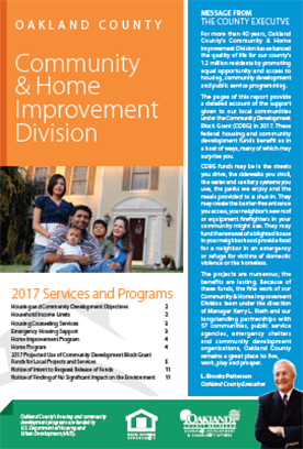 Community & Home Improvement 2017 Annual Report