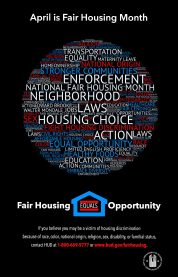April is Fair Housing Month Poster