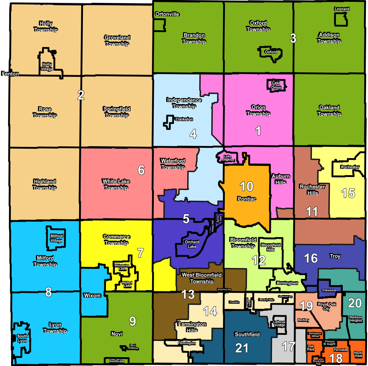 Geographic Characteristics Waterford Township Michigan