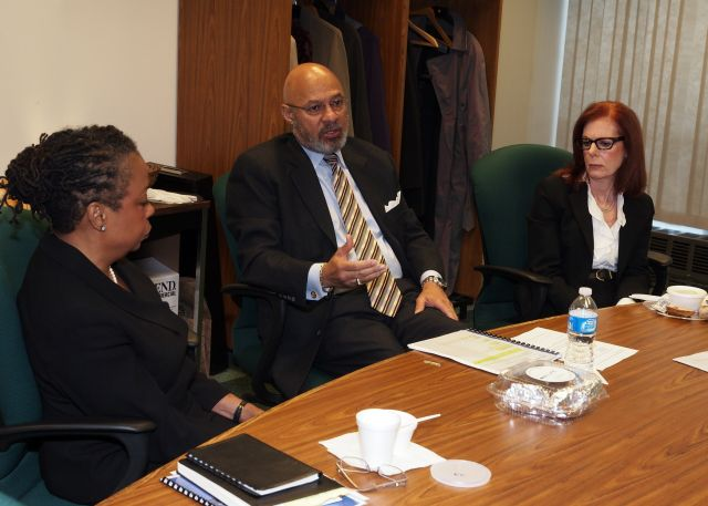 Joan Glanton Howard, Former Mayor of Detroit Dennis Archer, Miriam Siefer