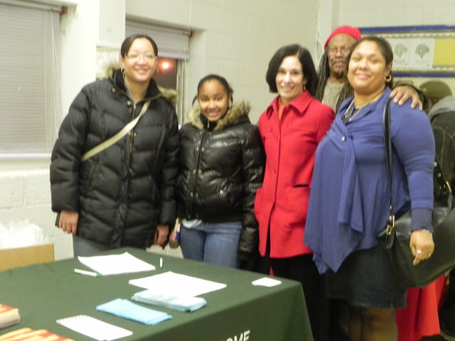 Pictured left to right are: Oakland County Community Homebuyer Coordinator/Housing Counselor Shameka Davenport, her daughter Paige Davenport, Commissioner Helaine Zack, Michael Kennedy and former Royal Oak Township Trustee and current member of the Oakland County Women's Advisory Commission Mishelle Y. Kennedy.