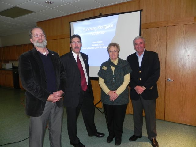 Commissioners (L-R) Jim Nash, Philip Weipert, Kathy Crawford, Bill Dwyer