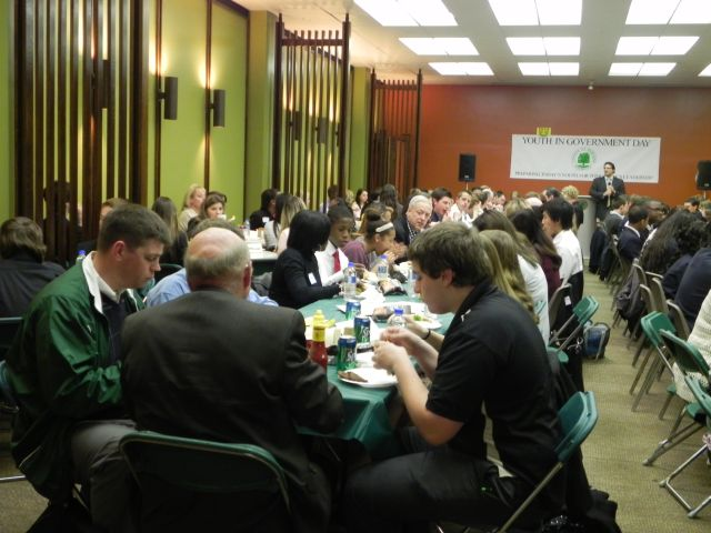 The Youth in Government Day luncheon