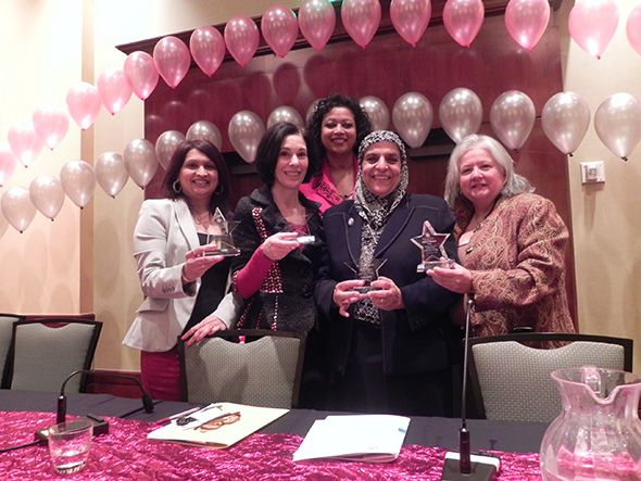 Pictured left to right are Nipa Shah, President of Jenesys Group, LLC; Oakland County Commissioner Helaine Zack; Circuit Court Judge Denise Langford Morris; Dr. Soraya Orady; and Debra Erhmann