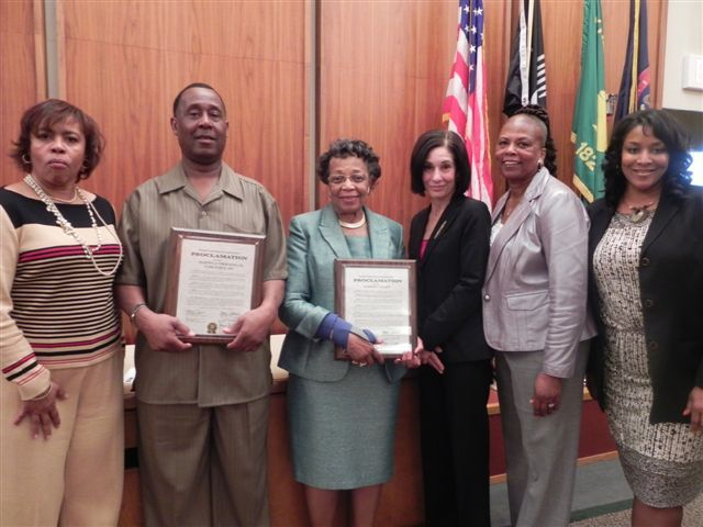 Commissioner Nancy Quarles, Roger Goolsby, Barbara Talley, Commissioners Helaine Zack, Mattie Hatchett and Janet Jackson