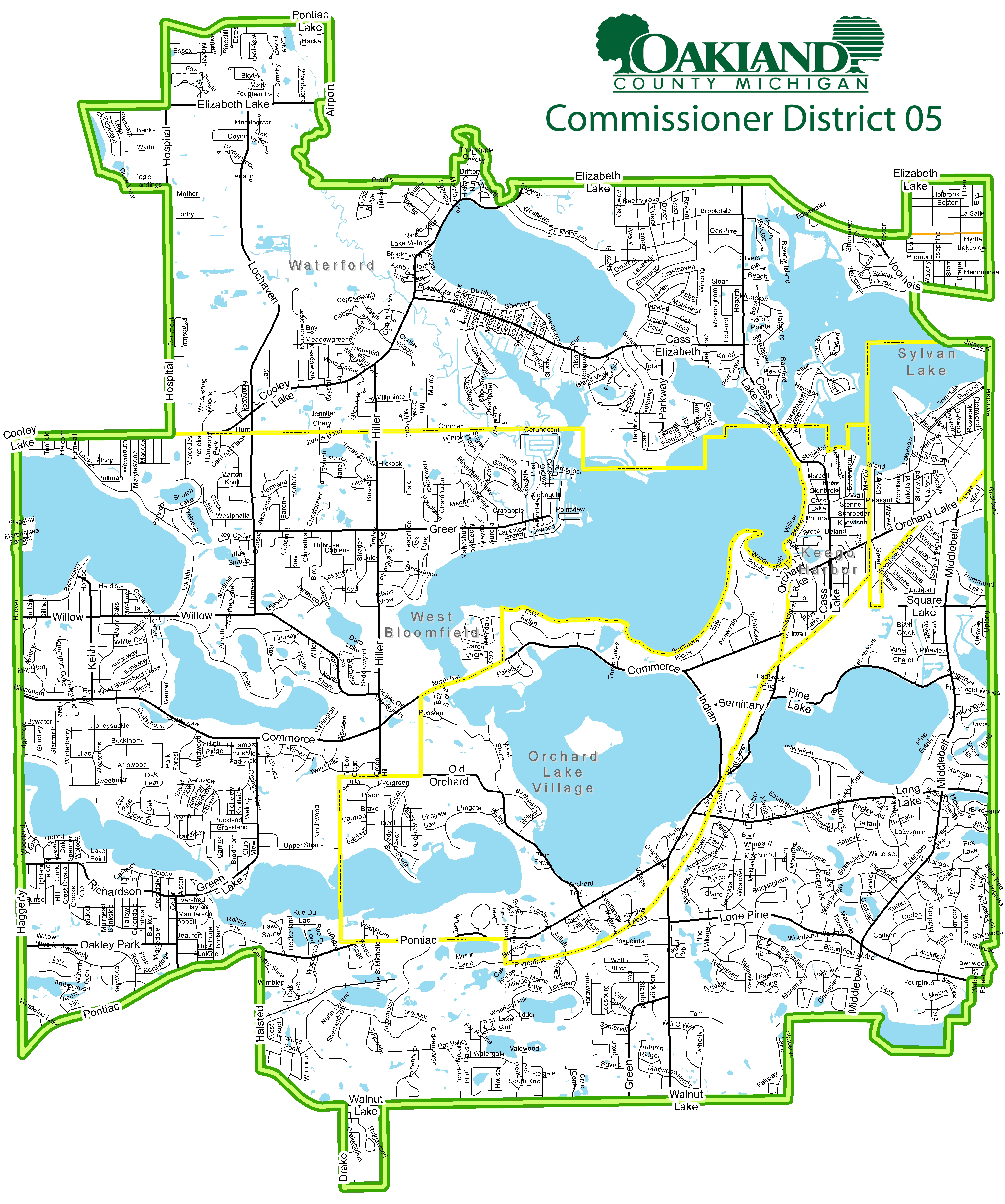 Street map of Commissioner District 5