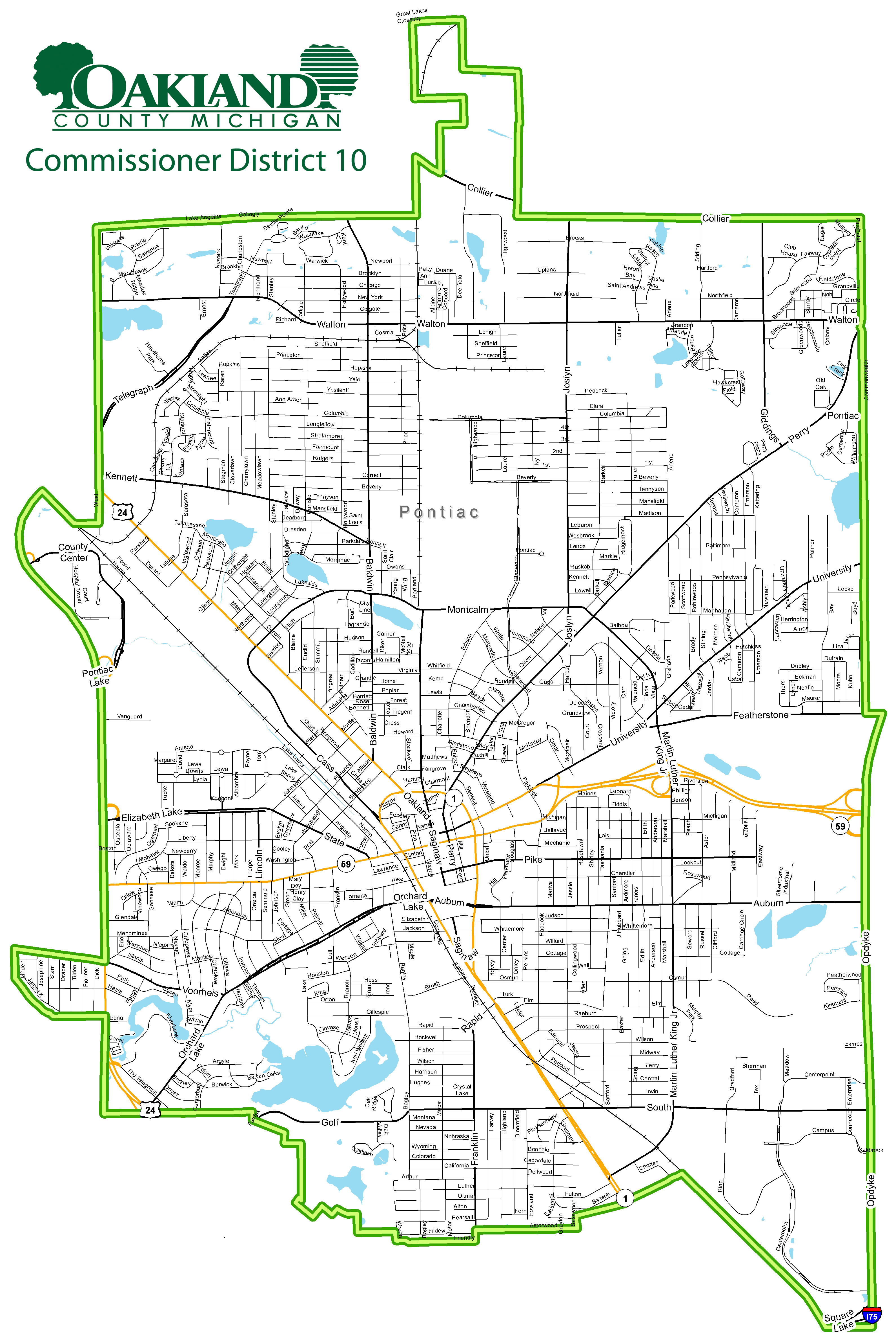 Street map of Commissioner District 10