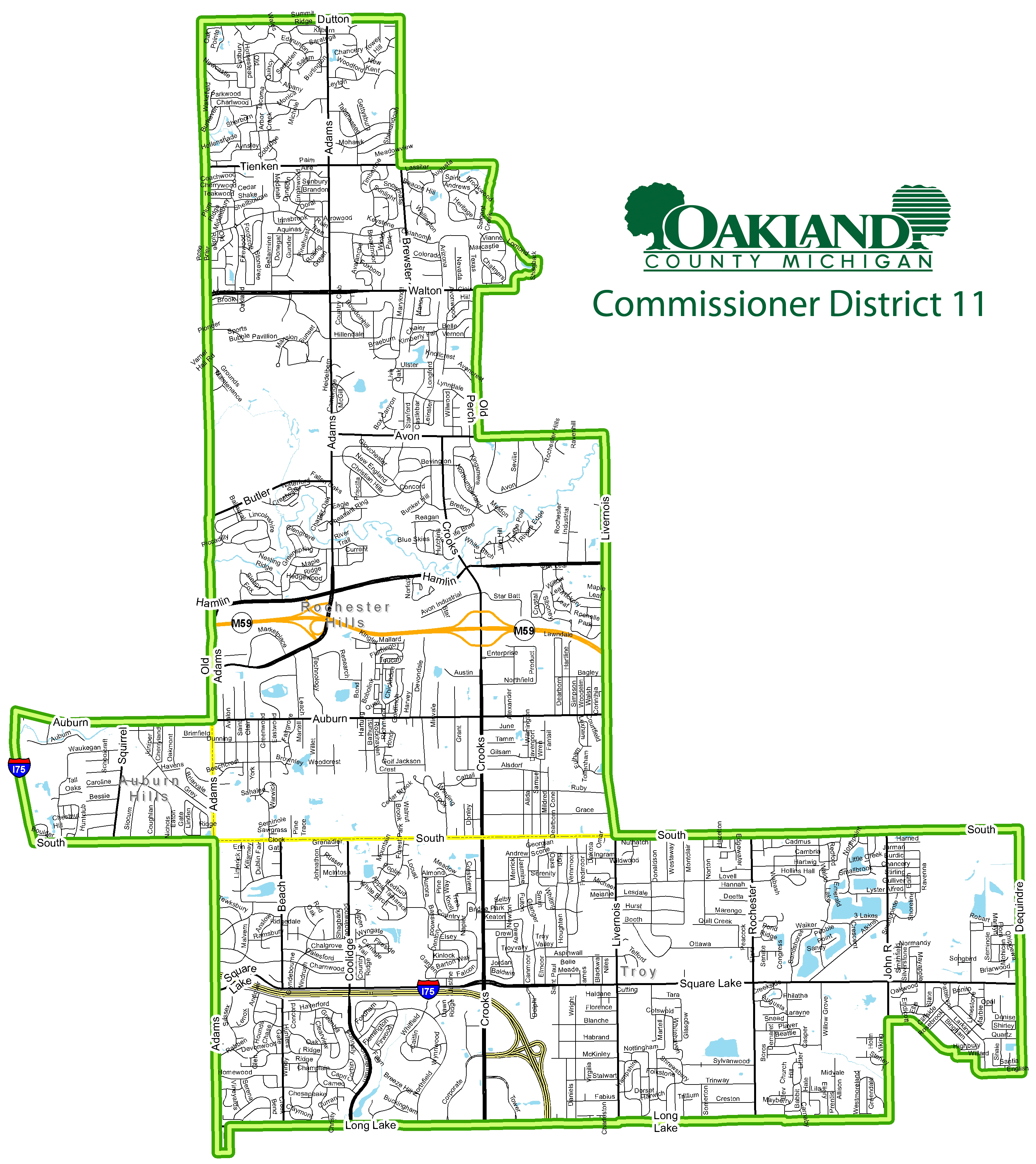 Street map of Commissioner District 11