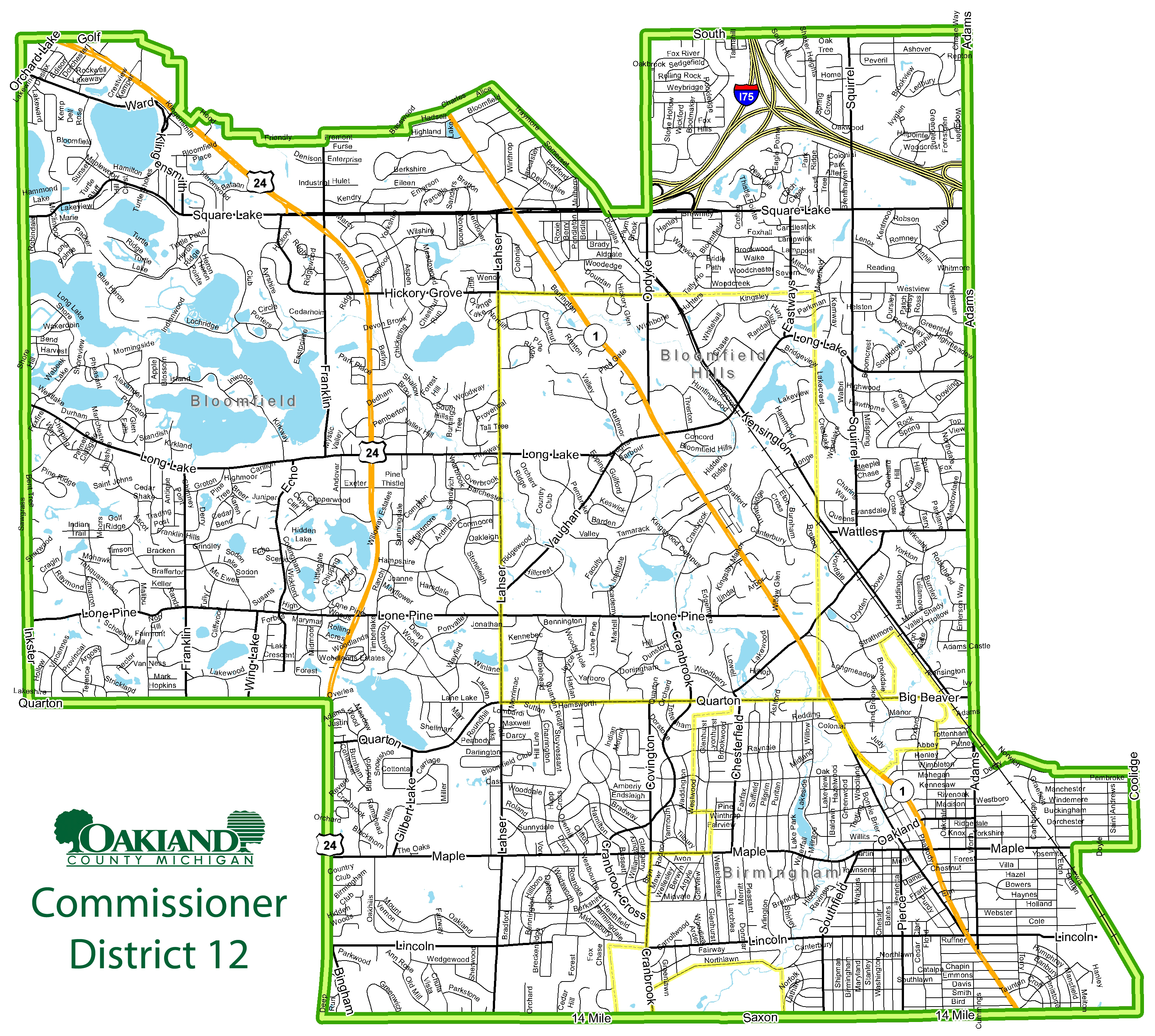 Street map of Commissioner District 12