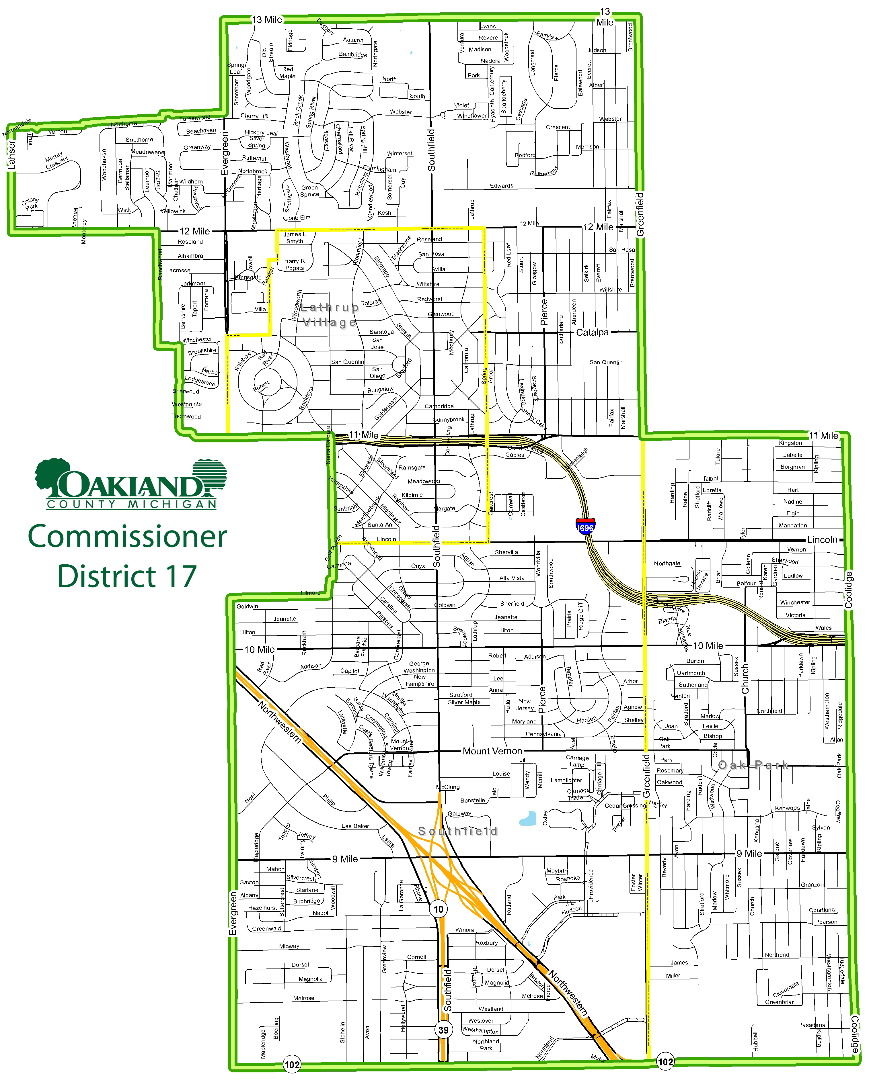 Street map of District 17