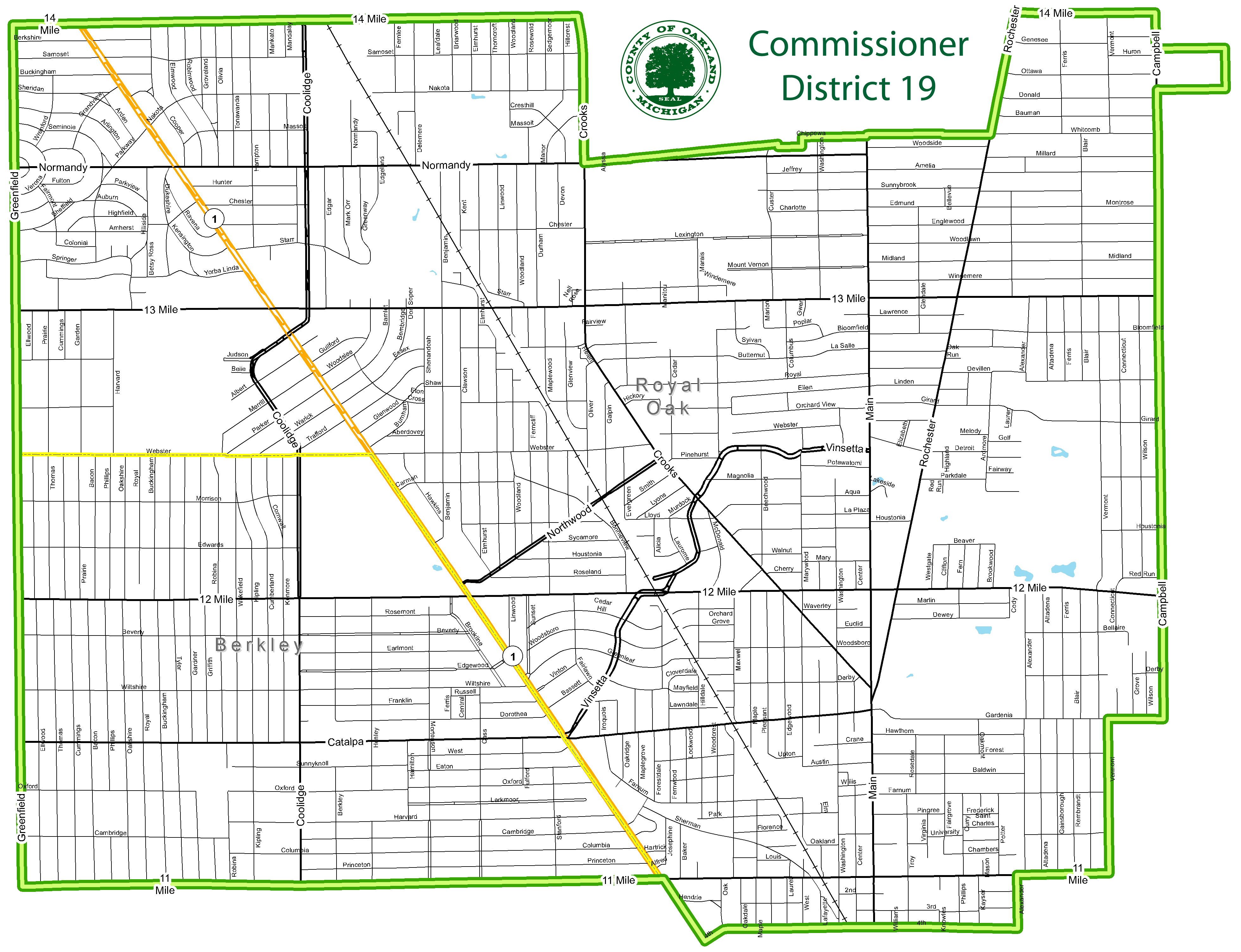 Street map of Commissioner District 19