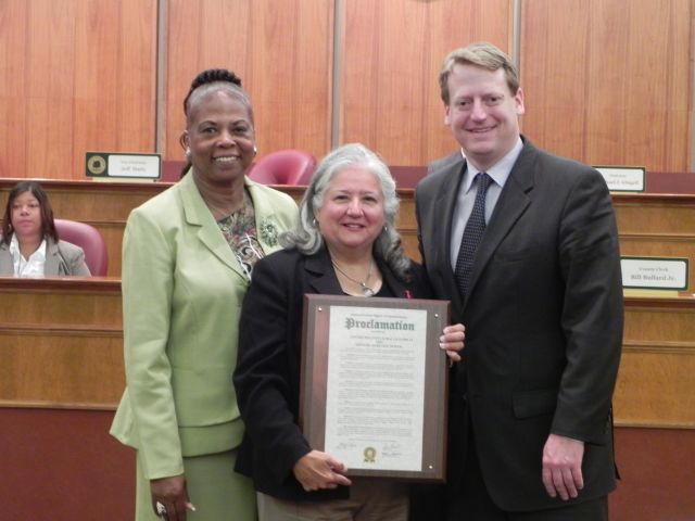 Commissioner Mattie Hatchett, Debra Ehrmann, Commissioner Tim Greimel