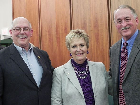 Commissioner Kathy Crawford with Hugh Crawford and former Commissioner Eric Wilson