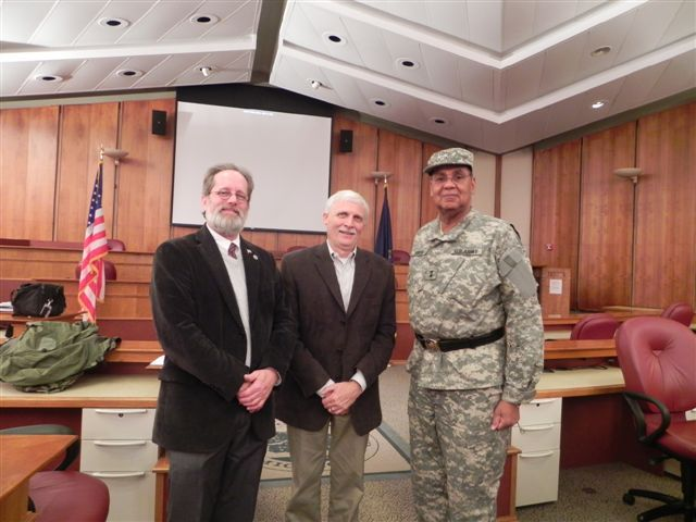 Pictured at left to right are Commissioner Jim Nash, Oakland County Deputy Director of Economic Development and Community Affairs Dan Hunter, and Major General U.S. Army (Retired) Robert W. Smith