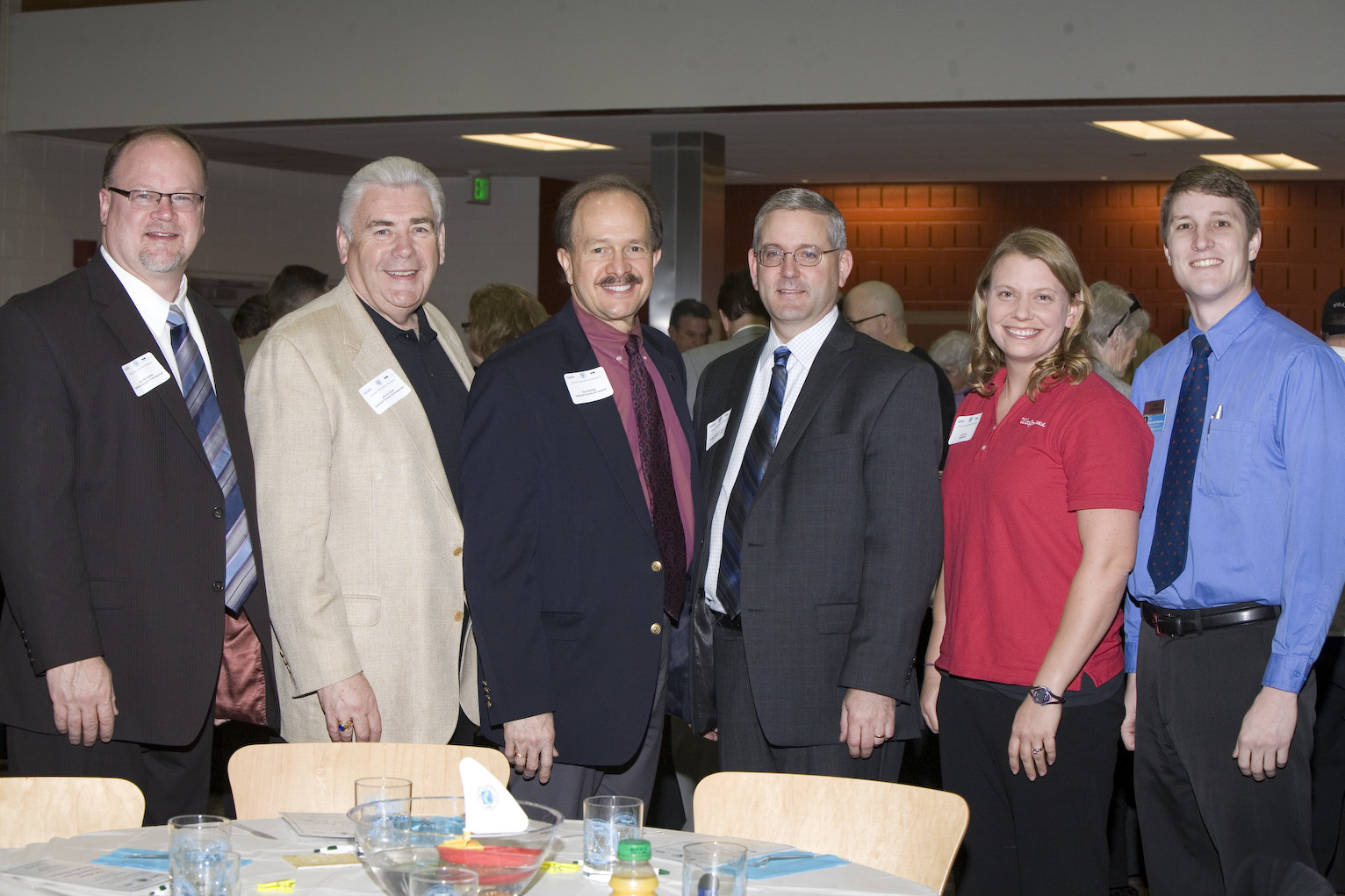 Pictured left to right are: Oakland County Commissioners Jim Runestad and John A. Scott, along with Oakland County International Airport Director Karl Randall, Judge Richard Kuhn, Jr, and Walgreen Store Managers: Gail Vires and Eric Krosgrud