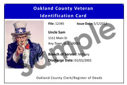 Sample of Military Identification Card