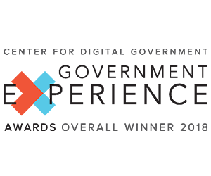 Center for Digital Government.  Government Experience Awards, Overall Winner 2017