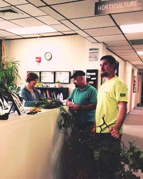 Garden Hotline staff assisting customers