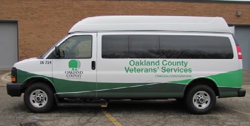 Oakland County Veterans Transportation Bus