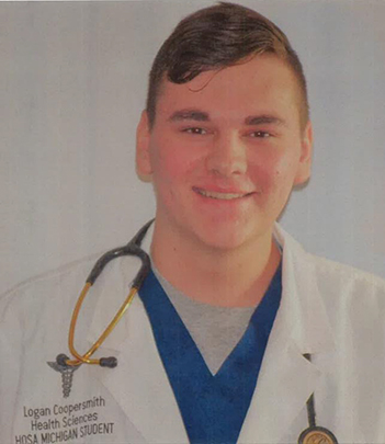 Logan Coopersmith in his white coat